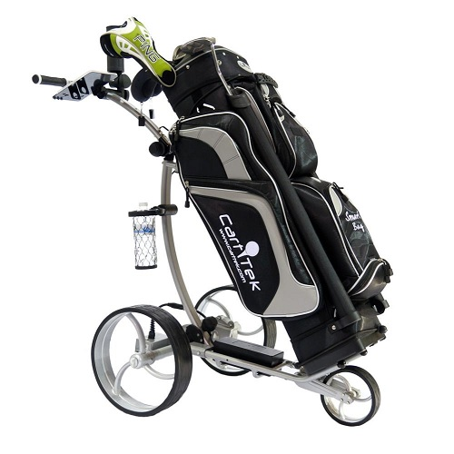 Your golf bag will fit on one our electric golf caddies easily.